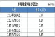 华泰新款宝利格正式上市 售7.37-9.37万元