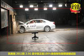 凯美瑞 2012款 2.5G 豪华版碰撞实验图解