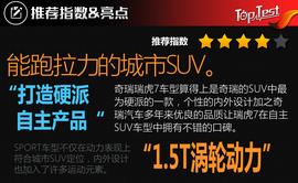 进军专业SUV领域 试奇瑞瑞虎7 SPORT 1.5T