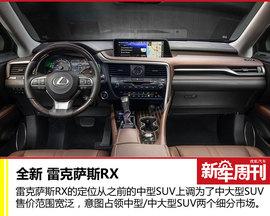 新车周刊:全新RX/大众辉腾等本周重磅车