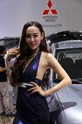 2013成都车展三菱车模