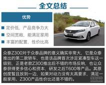 [长春]众泰Z300现直降1000元 现车充足
