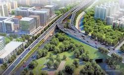BRT夜明珠路段开始建高架 将实行交通管制