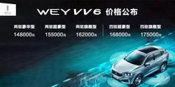 WEY旗下全新豪华SUV VV6 于天津车展上市
