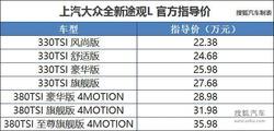 途观L加价售车 楼兰/胜达等竞品降3.55万