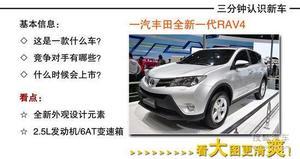 升级全新动力 实拍图解全新国产丰田RAV4