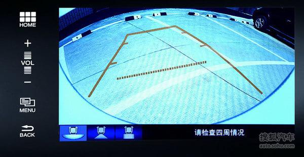 三模式170度倒车影像   而安装于前挡风玻璃上部的原厂行车记录仪,能够记录汽车行驶全过程的视频图像和声音,让车主出行无忧;喜欢自驾游的人,还可以用它来记录征服艰难险阻的过程。高达8G的内存可支持长达4小时的持续录像,最大存储量还可扩充至32G。车主观看录像也十分便利,既可以以无线方式通过手机回放,也可以通过HDMI接口连接DA、导航或用电脑回看。