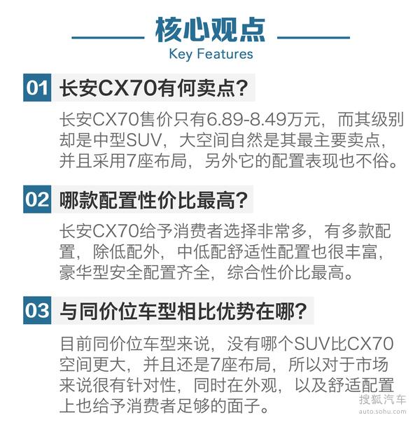 长安CX70购车手册