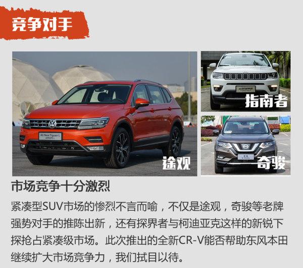 全新CR-V将7月9日上市 疑售18.58-23.88万