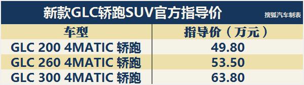 价格上调/39.78万起 奔驰新款GLC家族上市