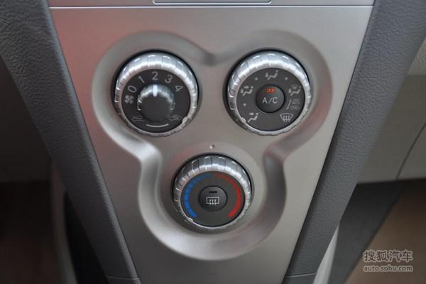 丰田威驰的空调控制面板