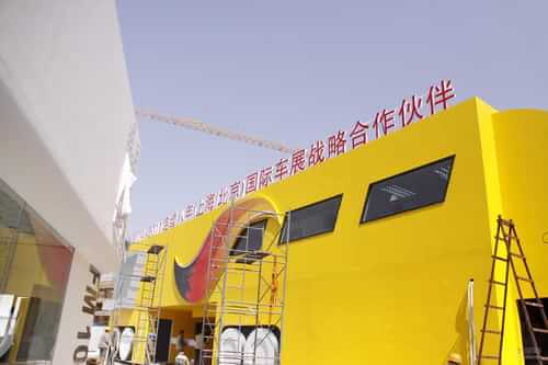搜狐展台搭建 2011上海车展探营实拍