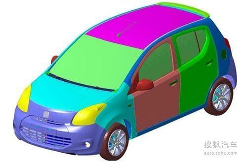 众泰A00级车专利申报图