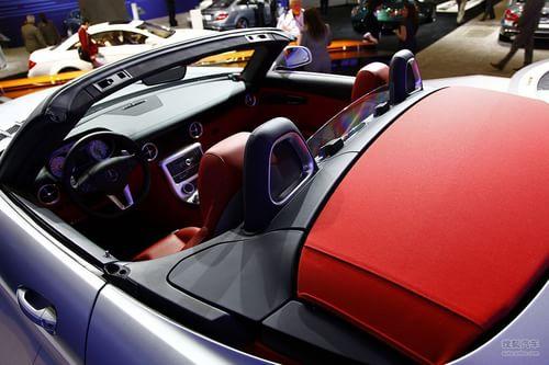 奔驰SLS AMG Roadster 洛杉矶车展实拍