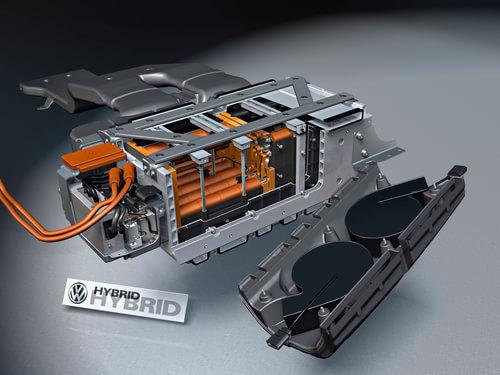 新途锐混合动力车型的电池系统