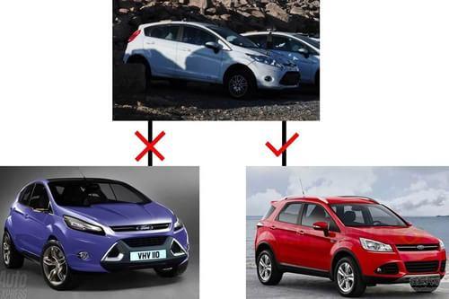 福特嘉年华SUV Ecosport小型SUV曝光