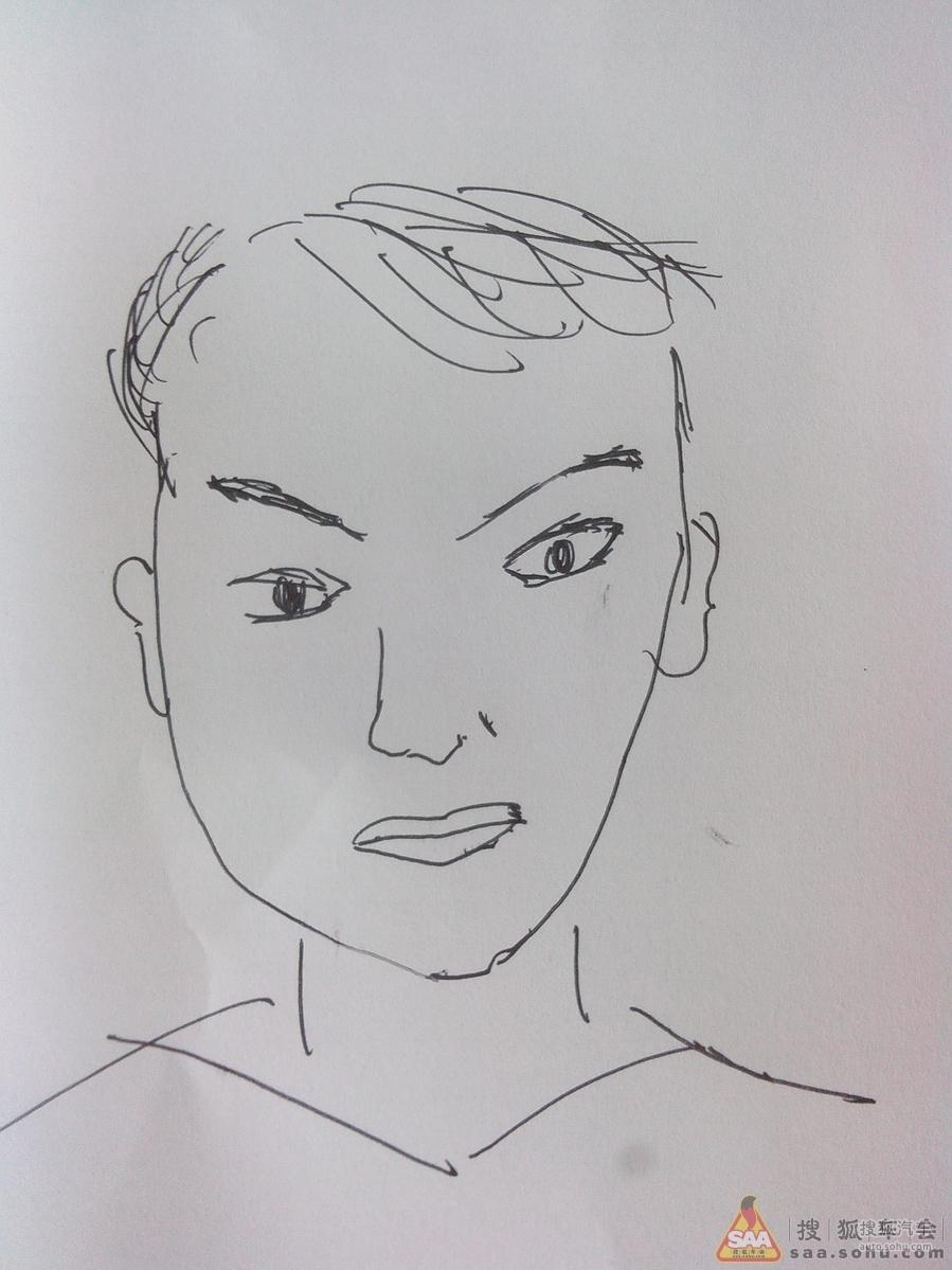 大师素描小孩头像13; 儿童素描画人物