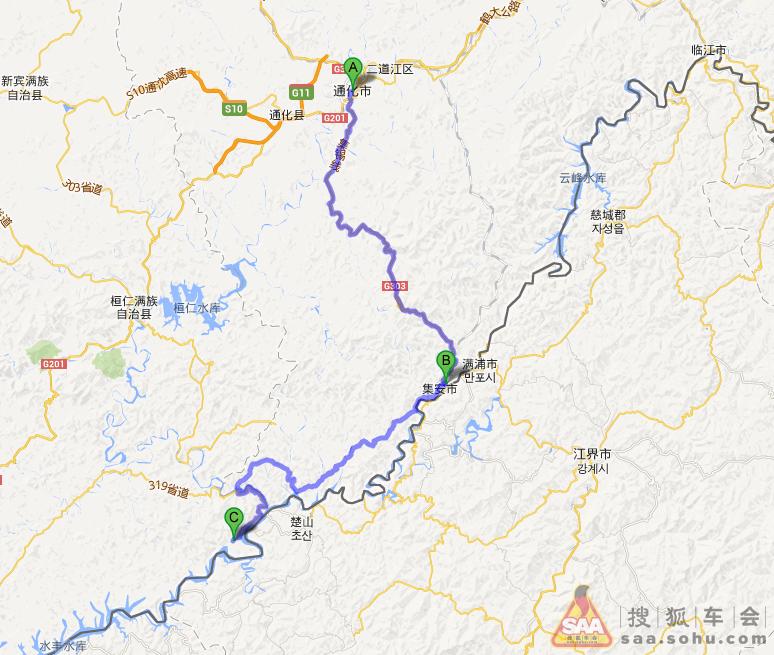 辽宁丹东绿江村旅游地图全图展示