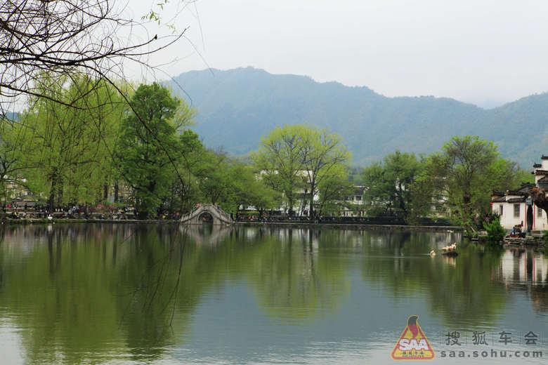 水彩古村风景步骤