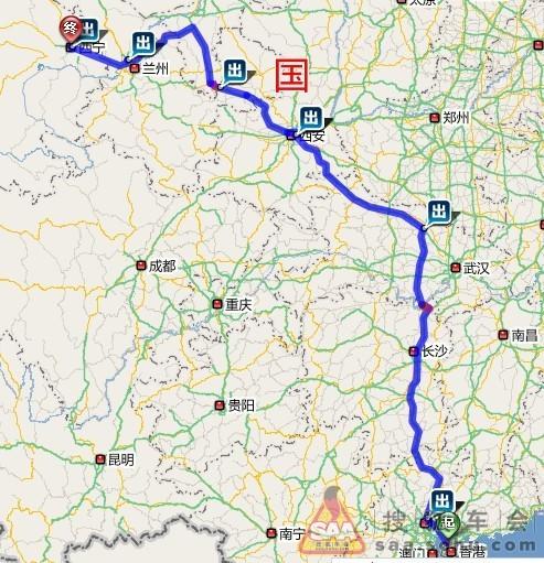 湛江一珠海自驾线路地图