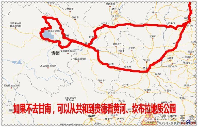 青海自驾手绘地图